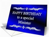 Happy Birthday to My Pastor Quotes Happy Birthday Minister Blue and Silver Card 1149266