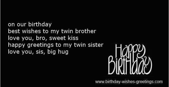 Happy Birthday to My Twin Brother Quotes Happy Birthday Quotes for Twins Brother and Sister Image