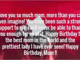 Happy Birthday to the Best Mom In the World Quotes Birthday Wishes for Mother Page 5