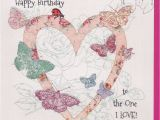 Happy Birthday to the One I Love Cards Handmade butterflies to the One I Love Birthday Card