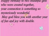 Happy Birthday Twin Sister Quotes Birthday Wishes for Twin Sisters Wishesgreeting