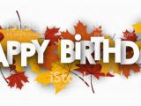 Happy Birthday Vahini Banner Happy Birthday Banner with Leaves Stock Illustration