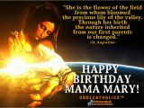 Happy Birthday Virgin Mary Quotes Birthday Mama Mary Quotes Quotesgram