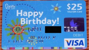 Happy Birthday Visa Gift Card Blue Vanilla Happy Birthday Visa Gift Card Flickr