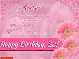 Happy Birthday Wishes for A Sister Quotes Birthday Poem for Sister Happy Birthday Wishes