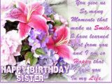 Happy Birthday Wishes for A Sister Quotes Dear Sister Happy Birthday Quote Wallpaper