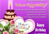 Happy Birthday Wishes In Advance Quotes Advance Birthday Wishes for Friends and Family Happy
