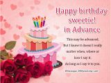 Happy Birthday Wishes In Advance Quotes Advance Birthday Wishes Messages and Greetings