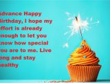 Happy Birthday Wishes In Advance Quotes Happy Early Birthday Wishes Advance Birthday Quotes