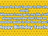 Happy Birthday Wishes Quotes for Teacher Happy Birthday Teacher Wishes Quotes 2happybirthday