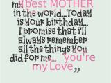 Happy Birthday Wishes to My Mom Quotes Happy Birthday Mom Quotes and Wishes