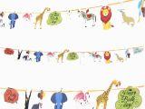 Happy Birthday Zoo Banner 1set New Happy Birthday Paper Flag Animal Zoo Party Bell