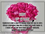 Happy Eighteenth Birthday Quotes 18th Birthday Wishes Messages and Greetings