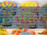 Happy Eighteenth Birthday Quotes Happy 18th Birthday Inspirational Quotes Quotesgram
