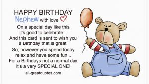 Happy First Birthday Quotes for Nephew Write Happy Birthday Nephew Wishes In A Card
