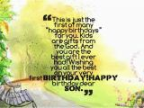 Happy First Birthday son Quotes 59 Birthday Wishes for Boy