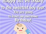 Happy First Birthday to My Baby Boy Quotes Happy 1st Birthday Wishes for Baby Girls and Boys