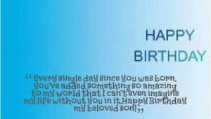 Happy First Birthday to My son Quotes Happy Birthday son Quotes Quotesgram