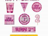 Happy Second Birthday Banner Age 2 Happy 2nd Birthday Pink Glitz Party Banners