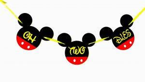 Happy Second Birthday Banner Oh Two Dles Mickey Mouse Birthday Banner Minnie