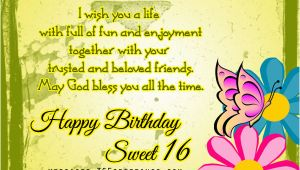 Happy Sweet 16 Birthday Quotes 16th Birthday Wishes 365greetings Com