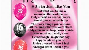 Happy Sweet 16 Birthday Quotes Sister Happy 16th Birthday Sister Poem Sticker Zazzle
