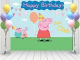 Happy Third Birthday Banner Peppa Pig Birthday Peppa Pig Backdrop Peppa Pig Banner