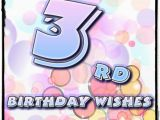 Happy Third Birthday Quotes Wishesalbum Com Wishes Quotes Messages Greetings and