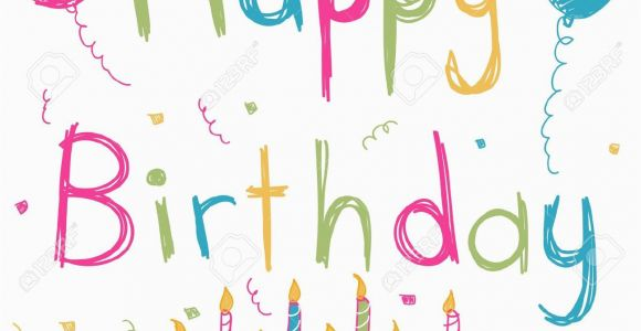Hapy Birthday Cards Happy Birthday Card Stock Vector Cartoon
