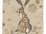 Hare Birthday Cards Brown Hare by Jane Crowther Design for Bug Art Greeting