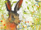 Hare Birthday Cards Hare Greeting Card