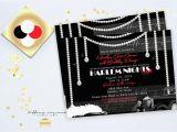 Harlem Nights Birthday Invitations Harlem Nights and Pearl Elegance