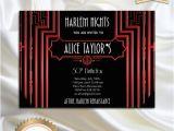 Harlem Nights Birthday Invitations Harlem Nights Birthday Party Invitation Great Gatsby Style