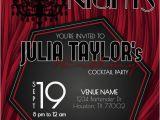 Harlem Nights Birthday Invitations Harlem Nights themed Birthday Invitation Printable Diy by