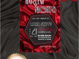 Harlem Nights Birthday Invitations Printable Birthday Party Invitation Harlem Nights Invitation