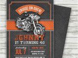 Harley Davidson Birthday Party Invitations Motorcycle Biker Birthday Invitation Vintage Motorcycle
