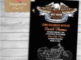 Harley Davidson Birthday Party Invitations Motorcycle Harley Davidson Adult Birthday Invitation 50th