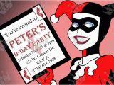 Harley Quinn Birthday Invitation Template 1000 Images About Boy Birthday Invites On Pinterest