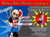 Harley Quinn Birthday Invitation Template Harley Quinn Birthday Invitations