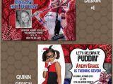 Harley Quinn Birthday Invitation Template Harley Quinn Birthday Party Invitations Printable Uprint