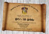Harry Potter Birthday Invitation Cards Free Harry Potter Papyrus Style Birthday Invitation Psd