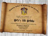 Harry Potter Birthday Invitation Cards Free Papyrus Style Psd