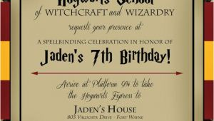 Harry Potter Birthday Invitation Cards Harry Potter Birthday Invitation by Lifeonpurpose On Etsy