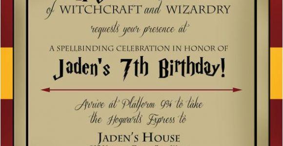 Harry Potter Birthday Invitation Cards Harry Potter Birthday Invitation by Lifeonpurpose On Etsy