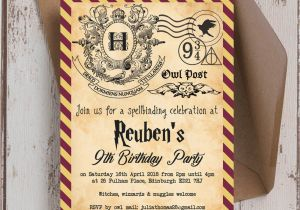 Harry Potter Birthday Invitation Cards Ticket Template Free Printable