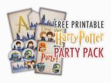 Harry Potter Happy Birthday Banner Printable Free Freebie Gallery the Cottage Market