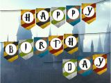 Harry Potter Happy Birthday Banner Printable Free Harry Potter Happy Birthday Banner Harry Potter Party