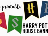 Harry Potter Happy Birthday Banner Printable Free Harry Potter House Banners Free Printable Paper Trail Design