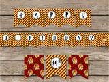 Harry Potter Happy Birthday Banner Printable Free Harry Potter Inspired Happy Birthday Banner Diy Harry