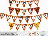 Harry Potter Happy Birthday Banner Printable Free Harry Potter Sign Etsy